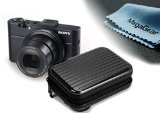 MegaGear ''Ultra Light'' Aluminium Hard Camera Compact Case Bag for Sony DSC-RX100M II, DSC-RX100M III, DSC-Rx100 IV, Canon PowerShot G7 X Mark II, PowerShot G7 X, SX710, s120, SX700, Nikon P340, Panasonic Lumix DMC-LF1, DMC-ZS40 (Black)