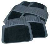PORSCHE 944 91 997 996 CAR FLOOR MATS 4 PIECE BLACK RUBBER & CARPET