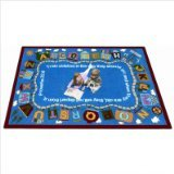 "Joy Carpets Kid Essentials Inspirational Bible Train Area Rug, Multicolored, 5'4"" x 7'8"""