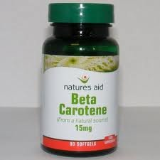 Natures Aid Beta Carotene 15mg - Pack of 90 Capsules