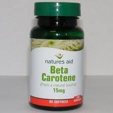 Natures Aid Beta Carotene 15mg - Pack of 90 Capsules