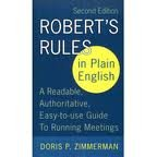 img - for Robert's Rules in Plain English: A Readable, Authoritative, Easy-to-Use Guide to Running Meetings 2nd (second) edition book / textbook / text book