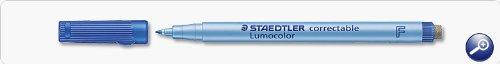 Staedtler-lumocolor lot de ® correct f bleu = 10, vE
