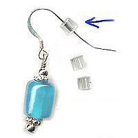 earring backs medium 3mm safety for fish hook translucent