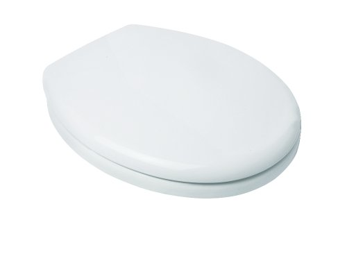 Croydex Safeflush AntiBacterial Toilet Seat with Slow Close Hinges, White