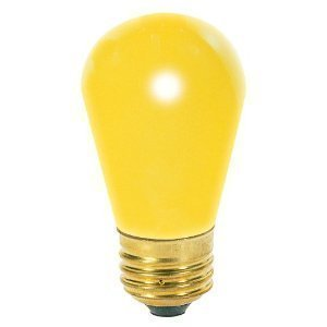 (12 Pack) 11-Watt S14 Sign Indicator 11S14 Medium (E26) Base Incandescent Light Bulb Ceramic Yellow