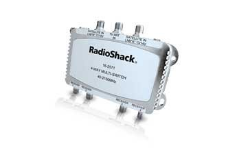 Radio Shack Satellite Passive 4 way Multi Switch for dual-LNB Systems and Antennas