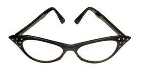 50's Rhinestone Black Glasses - Buy 50's Rhinestone Black Glasses - Purchase 50's Rhinestone Black Glasses (Sunglasses, Toys & Games,Categories,Pretend Play & Dress-up,Costumes,Accessories)