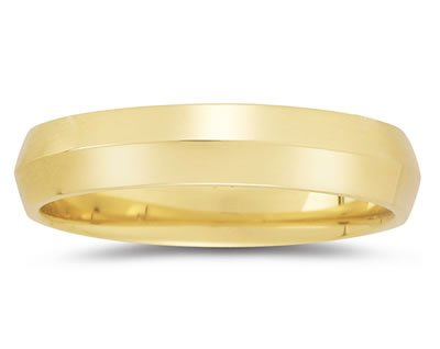 Men's 5mm Knife Edge Wedding Band in 14k Yellow Gold