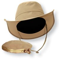 Miracle of Aloe the Traveler Hat the Big Hat That Folds Small Enough to Fit in Your Pocket! One Size Fits All.