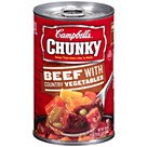 Campbells® Chunky Beef With Country Vegetables; 18.8 Oz. Can, 8/Pk