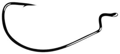 Gamakatsu 25 Pack EWG Offset Worm Hook (Black, 2/0)