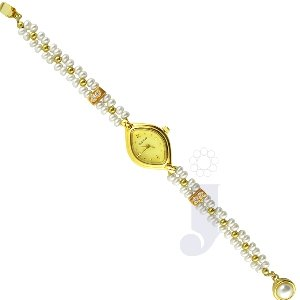SIZZLING WOMANS PEARL WATCH | Color White