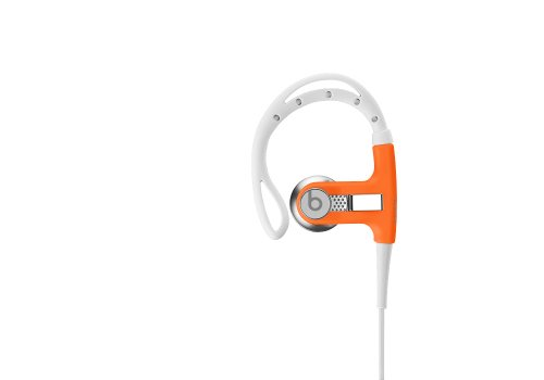 Beats By Dr. Dre Powerbeats Earbuds (Orange) Bundle With Beats Cable With Microphone And Custom Designed Zorro Sounds Cleaning Cloth