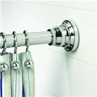 Zenith Products Decorative Adjustable Tension Shower Rod, 43 - 72 Inch, Chrome front-89491
