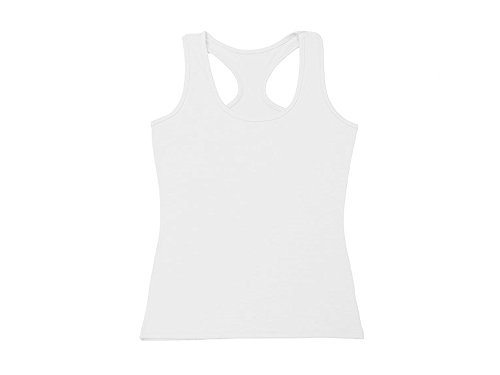 Absolutely Perfect Womens Casual Cotton Solid Color Bottoming Shirt Vest Top White XX-Large