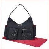 Amy Michelle Lotus Diaper Bag, Black - 1