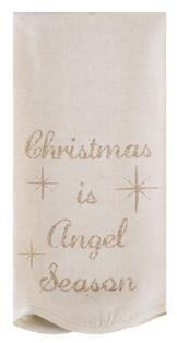 "Noel Nostalgia Holiday Christmas Tea Towels ""Angel Season"" (Set Of 2)"