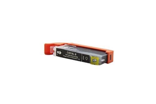 Officehandel Tinte (schwarz, Inhalt 12 ml) ersetzt Canon 6443B001 / CLI-551BKXL für Canon Pixma IP 7250, MG 5450, MG 6350, MX 725, MX 925