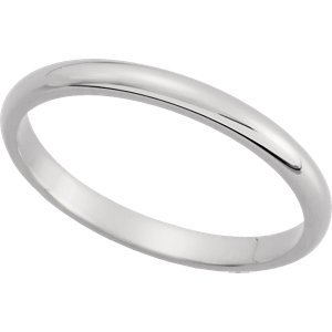 Genuine IceCarats Designer Jewelry Gift 14K White Gold Wedding Band Ring Ring. 02.00 Mm Half Round Band In 14K Whitegold Size 12