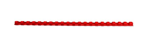 Dorsi plastici GBC - 21 anelli - 125 fogli - dorso 14 mm - rosso