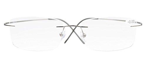 Eyekepper Titanium Rimless Eyeglasses Men Gunmetal Health ...