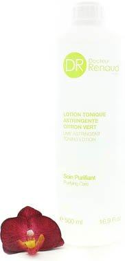 Dr. Renaud Lotion Tonique Astringente Citron Vert - Lime Astringent Tonic Lotion 500ml/16.9oz (Salon Size) matis lime blossom lotion delicate