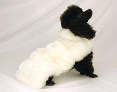 Emma Rose Luxurious Snow Mink Designer Dog Coat (Small)