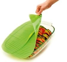 Charles Viancin Charles VIANCIN The Banana Leaf Lid Medium & Large Silicone Suction Lid & Food Cover