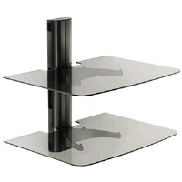 Sanus Systems VF2012-B1 Single Column Wall-Mounted Furniture Component Shelf