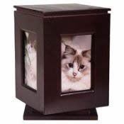 Classic Products Keepsake Pet Memorial Display, Large Rotating 6″ x 9″, Mahogany