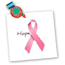 Patricia Sanders Painted Pink Ribbon Hope Art Breast Cancer Aware Square Quilt Sheet, 10 by 10-Inch