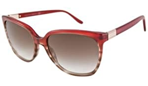 Gucci Sunglasses - 3502 / Frame: Burgundy Havana Stripe Lens: Brown Gradient by Gucci