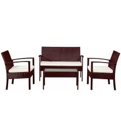 Gartenmöbelset Grenoble braun Garten Möbel Sitzgruppe günstig bestellen