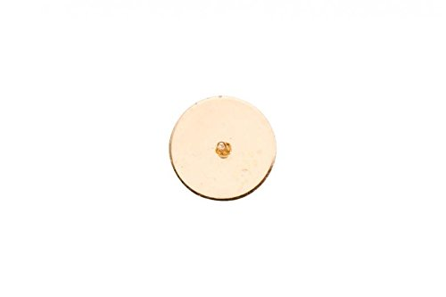 10Pcs Hypoallergenic Earrings Pin Stud Findings Flat Pad With Setting Peg Gold Finished 13x8mm Fit 8.5mm