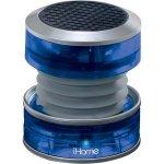 Blue Rechargeable Collapsible Portable Translucent Mini Speaker Li-Ion Batteries
