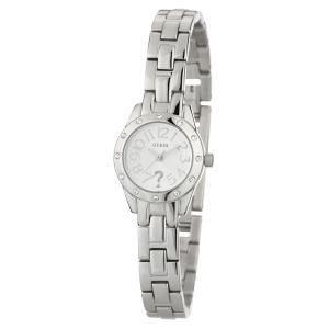 Guess W0307L1 - Reloj para mujeres, correa de acero inoxidable color plateado