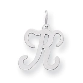 Sterling Silver Stamped Initial K Charm - JewelryWeb