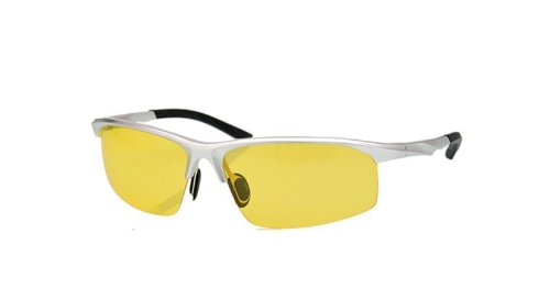 Telam Sports Polarized Glasses, Aluminum-Magnesium Drivers Sun Eye, Night-Vision Goggles Driving Mirror