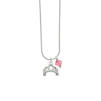 Silver Tiara Rose Swarovski Bicone Charm Necklace [Jewelry]