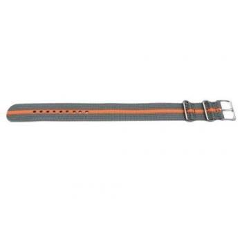 Timex Watch Bands Timex T7B909 Weekender 20mm Gray/Orange Nylon Slip-Thru Watch Strap