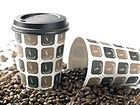 50 x Disposable Paper Coffee Cups and...