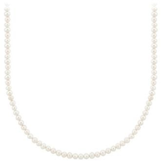 David's Bridal Sterling Silver Baroque Freshwater Pearl Necklace Style SA8069, White, 16