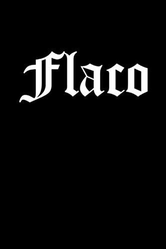 Flaco Notebook 120 Pages Journal 6x9 Blank Line  [Publication, JMG] (Tapa Blanda)