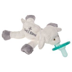 Baby / Child Safety Tested Mary Meyer Wubbanub 100% Soft And Cuddly Pacifier Infant Collection - God Bless Lamb Infant front-580997