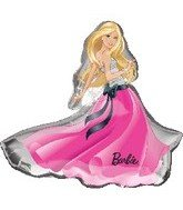 "Anagram International 1926201 Barbie Glamour Dress Balloon Pack, 32"" - 1"
