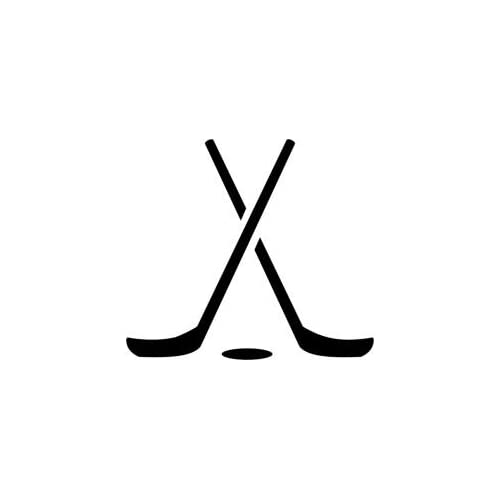 Amazon.com : Tattoo Stencil - Criss-Crossed Hockey Sticks - #L121