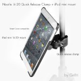 Grifiti Nootle Quick Release Pipe Clamp and iPad mini 1 2 Tripod Mount Retrofits Tripods Microphone Stands Recording Stands Music Stands for Photographers and Musicians and Smart Cover Compatible