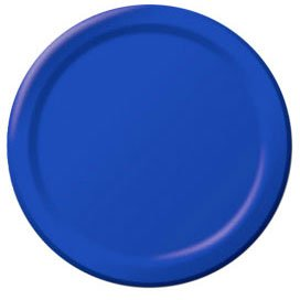 Big Party Pack Paper Luncheon Plates 7-Inch, 50/Pkg, Bright Royal Blue