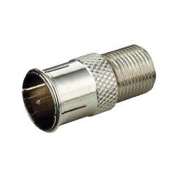 SAT F-Adapter Prüfstecker F-Quick auf F-Stecker (F-Kupplung)